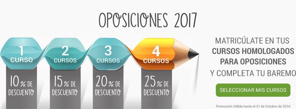 Descuento oposiciones 2017
